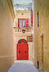 Old Red door Mdina, Malta