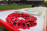 A wreath for Armistice Day during Stevenage vs Notts County, Sky Bet EFL League 2 Football at the Lamex Stadium on 11th November 2017