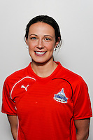 Sarah Huffman of the Washington Freedom during the unveiling of the Women's Professional Soccer uniforms at the Event Place in Manhattan, NY, on February 24, 2009. Photo by Howard C. Smith/isiphotos.com