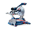Bosch miter saw, mitre saw power tool isolated on white background with clipping path
