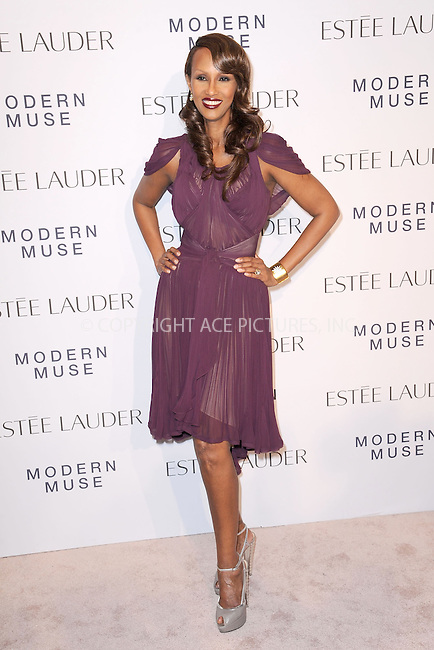 WWW.ACEPIXS.COM<br /> September 12, 2013...New York City<br /> <br /> Iman attending the Estee Lauder 'Modern Muse' Fragrance Launch Party at the Guggenheim Museum on September 12, 2013 in New York City.<br /> <br /> Please byline: Kristin Callahan/Ace Pictures<br /> <br /> Ace Pictures, Inc: ..tel: (212) 243 8787 or (646) 769 0430..e-mail: info@acepixs.com..web: http://www.acepixs.com
