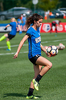 Kansas City, MO - Saturday September 9, 2017: Erika Tymrak during a regular season National Women's Soccer League (NWSL) match between FC Kansas City and the Chicago Red Stars at Children's Mercy Victory Field.