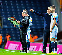 Blackburn Rovers manager Tony Mowbray instructs Ben Brereton<br /> <br /> Photographer Alex Dodd/CameraSport<br /> <br /> The EFL Sky Bet Championship - Blackburn Rovers v Rotherham United - Saturday 10th November 2018 - Ewood Park - Blackburn<br /> <br /> World Copyright &copy; 2018 CameraSport. All rights reserved. 43 Linden Ave. Countesthorpe. Leicester. England. LE8 5PG - Tel: +44 (0) 116 277 4147 - admin@camerasport.com - www.camerasport.com