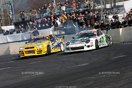 Mar. 27, 2010 - Tokyo, Japan - Professional drifters compete against each other during the D1GP Tokyo Drift event in Odaiba.