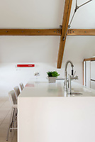BNPS.co.uk (01202 558833)<br /> Pic: MrAndMrsClarke/BNPS<br /> <br /> Kitchen. <br /> <br /> A luxury house on an English country estate where the Allies plotted the infamous assassination of one of Adolf Hitler's top henchmen has gone on the market.<br /> <br /> Rooftops, a Norwegian-style chalet, is located on the Moreton Paddox estate in Warwickshire where 4,000 Czech soldiers were billeted during the Second World War.<br /> <br /> The plot to assasinate Nazi monster SS General Reinhard Heydrich involved two Czech soldiers who parachuted into Prague where they attacked and killed him as he was driven to work. <br /> <br /> His death led to appalling Nazi reprisals on locals, with more than 1,300 men, women and children massacred.<br /> <br /> The Edwardian mansion at Moreton Paddox that was requisitioned for the war effort was later demolished and Rooftops was built on the grounds in 2009.