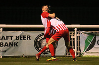 Scott Heard scores his second goal  for Folkestone and celebrates during Enfield Town vs Folkestone Invicta, BetVictor League Premier Division Football at the Queen Elizabeth II Stadium on 16th November 2019