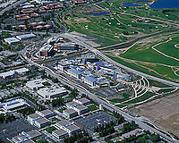aerial photograph Google corporate headquarters Mountain View, San Clara county, California