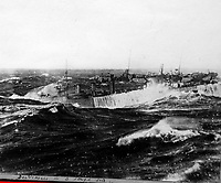 BNPS.co.uk (01202 558833)<br /> Pic Lawrences/BNPS<br /> <br /> Incredible photograph of British Destroyers in very rough seas of Scotland.<br /> <br /> Fascinating early photos of submarine warfare featuring close quarters views of German battleships have come to light 100 years later.<br /> <br /> The photo albums were collated by British Commander Maurice Bailward who documented every stage of his naval career.<br /> <br /> Cmdr Bailward attended Royal Naval College in Osborne, Isle of Wight, from 1906 and 1908, the same time as Edward, the Prince of Wales.<br /> <br /> He was involved in many of the major sea battles of World War Two as well as the British effort to help the Whites during the Russian Civil War of 1919.<br /> <br /> The albums have emerged for sale at auction from a family descendant with Lawrences Auctioneers, of Crewkerne, Somerset.