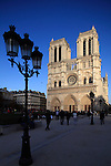 Place du parvis Notre Dame with west front of Notre-Dame cathedral in background. city of Paris. Paris. France