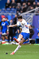9th February 20020, Stade de France, Paris, France; 6-Nations international mens rugby union, France versus Italy;  Conversion kick by Romain Ntamack ( 10 France )