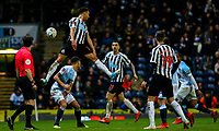Newcastle United's Jacob Murphy jumps for a header<br /> <br /> Photographer Alex Dodd/CameraSport<br /> <br /> Emirates FA Cup Third Round Replay - Blackburn Rovers v Newcastle United - Tuesday 15th January 2019 - Ewood Park - Blackburn<br />  <br /> World Copyright &copy; 2019 CameraSport. All rights reserved. 43 Linden Ave. Countesthorpe. Leicester. England. LE8 5PG - Tel: +44 (0) 116 277 4147 - admin@camerasport.com - www.camerasport.com