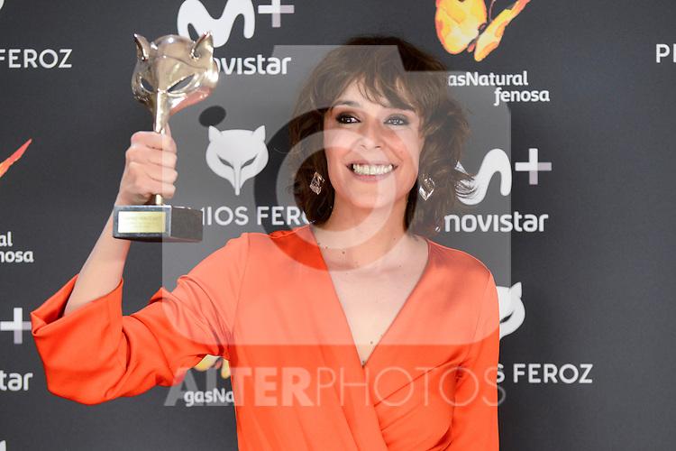 Belen Cuesta win the award at Feroz Awards 2017 in Madrid, Spain. January 23, 2017. (ALTERPHOTOS/BorjaB.Hojas)
