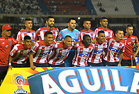 BARRANQUILLA - COLOMBIA - 21 - 05 - 2017: Los jugadores de Atletico Junior, posan para una foto, durante partido de la fecha 14 entre Atletico Junior y Deportivo Cali por la Liga Aguila II - 2017, jugado en el estadio Metropolitano Roberto Melendez de la ciudad de Barranquilla. / The players of Atletico Junior, pose for a photo, during a match of the date 14th between Atletico Junior and Deportivo Cali for the Liga Aguila II - 2017 at the Metropolitano Roberto Melendez Stadium in Barranquilla city, Photo: VizzorImage / Alfonso Cervantes / Cont.