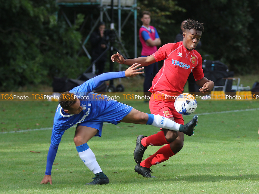 Peter Kioso of MK Dons in action during Gillingham Under-18 vs Milton Keynes Dons Under-18, EFL Youth Alliance Football at Beechings Cross, Gillingham FC Training Ground on 8th October 2016