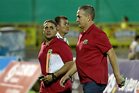 NEIVA - COLOMBIA, 05-07-2015: Atlético Huila y Once Caldas en partido por la fecha 5 de la Liga Águila II 2018 jugado en el estadio Guillermo Plazas Alcid de la ciudad de Neiva. / Atletico Huila and Once Caldas in match for the date 5 of the Aguila League II 2018 played at Guillermo Plazas Alcid in Neiva city. VizzorImage / Sergio Reyes / Cont