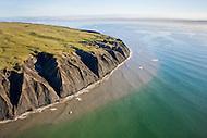 Coastal erosion on Herschel Island, North Yukon