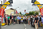 Ready for the start of Stage 11 of the 104th edition of the Tour de France 2017, running 203.5km from Eymet to Pau, France. 12th July 2017.<br /> Picture: ASO/Pauline Ballet | Cyclefile<br /> <br /> <br /> All photos usage must carry mandatory copyright credit (&copy; Cyclefile | ASO/Pauline Ballet)