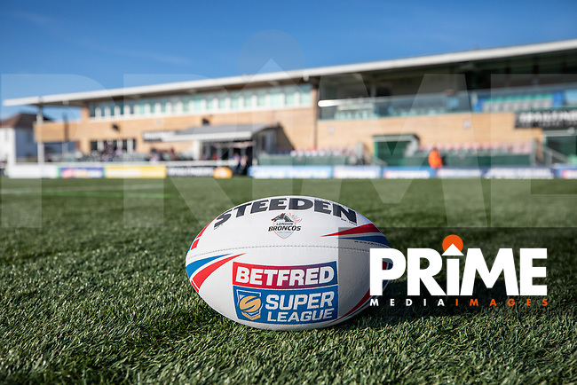 General view ahead of the Betfred Super League match between London Broncos and Wakefield Trinity at Castle Bar , West Ealing , England on 3 February 2019. Photo by David Horn.