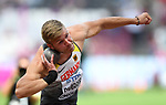 Mathias BRUGGER (GER) in the mens decathlon shot put. IAAF world athletics championships. London Olympic stadium. Queen Elizabeth Olympic park. Stratford. London. UK. 11/08/2017. ~ MANDATORY CREDIT Garry Bowden/SIPPA - NO UNAUTHORISED USE - +44 7837 394578