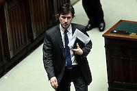 Dario Nardella<br /> Roma 25-02-2014 Camera. Voto di fiducia al nuovo Governo.<br /> Senate. Trust vote for the new Government.<br /> Photo Samantha Zucchi Insidefoto