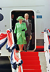Queen Elizabeth and the Duke of Edinburgh arrive at Don Muang Airport in Bangkok to begin a State visit to Thailand.<br /> Queen Elizabeth, and The Duke of Edinburgh are accompanied by King Bhumibol of Thailand, in a traditional welcome