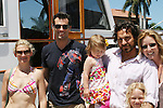 Beth Ehlers, Austin Peck, Thorsten Susan and daughters Marlowe and McKenna - 11th Annual SoapFest - Actors take a break on the Ramblin' Rose with Ken as the captain on May 2, 2009 on Marco Island, FLA. (Photo by Sue Coflin/Max Photos)
