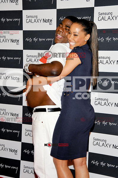 NEW YORK - AUGUST 15: (L to R) Actor Tracy Morgan and Megan Wollover attend Samsung Galaxy Note 10.1 Launch Event at Jazz at Lincoln Center on August 15, 2012 in New York City. (Photo by MPI81/MediaPunchInc) /NortePhoto.com<br />