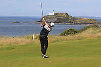 Thomas Detry (BEL) on the 4th during Round 1 of the Aberdeen Standard Investments Scottish Open 2019 at The Renaissance Club, North Berwick, Scotland on Thursday 11th July 2019.<br /> Picture:  Thos Caffrey / Golffile<br /> <br /> All photos usage must carry mandatory copyright credit (© Golffile | Thos Caffrey)