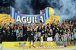 Atletico Nacional derroto al 1x0  al Atletico Junior con el partido de ida del la final del futbol colombiano y se corono Campeon  del torneo Aguila del 2015