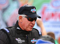 Mar 30, 2014; Las Vegas, NV, USA; NHRA top fuel driver Steve Faria during the Summitracing.com Nationals at The Strip at Las Vegas Motor Speedway. Mandatory Credit: Mark J. Rebilas-