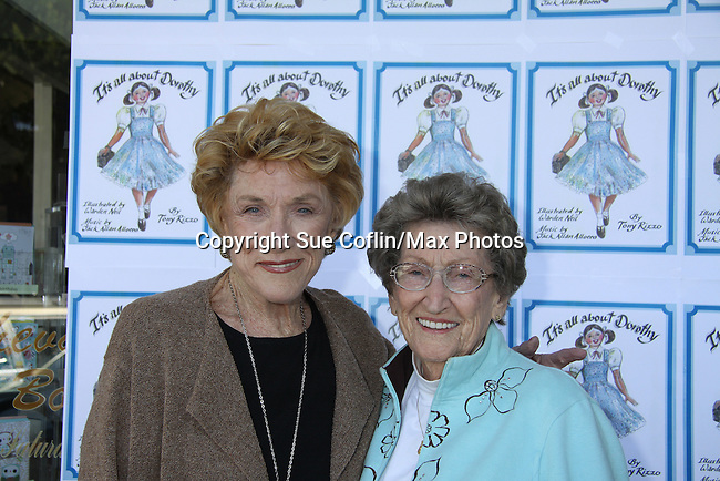 """Y&R Jeanne Cooper and her sister Evelyn attend The Premiere Book Signing of """"It's All About Dorothy"""" - a wonderful new children's book and song which includes a cd telling the story of """"The Wizard of Oz"""" on April 10, 2011 at Chevalier's Books, Los Angeles, California. (Photos by Sue Coflin/Max Photos)"""