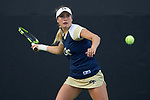 during the Round of 16 at the 2018 NCAA Women's Tennis Championship at the Wake Forest Tennis Center on May 17, 2018 in Winston-Salem, North Carolina.  (Brian Westerholt/Sports On Film)