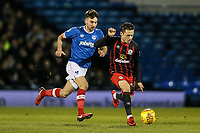 Blackburn Rovers' Jack Payne gets away from Portsmouth's Ben Close <br /> <br /> Photographer Andrew Kearns/CameraSport<br /> <br /> The EFL Sky Bet League One - Portsmouth v Blackburn Rovers - Tuesday 13th February 2018 - Fratton Park - Portsmouth<br /> <br /> World Copyright &copy; 2018 CameraSport. All rights reserved. 43 Linden Ave. Countesthorpe. Leicester. England. LE8 5PG - Tel: +44 (0) 116 277 4147 - admin@camerasport.com - www.camerasport.com
