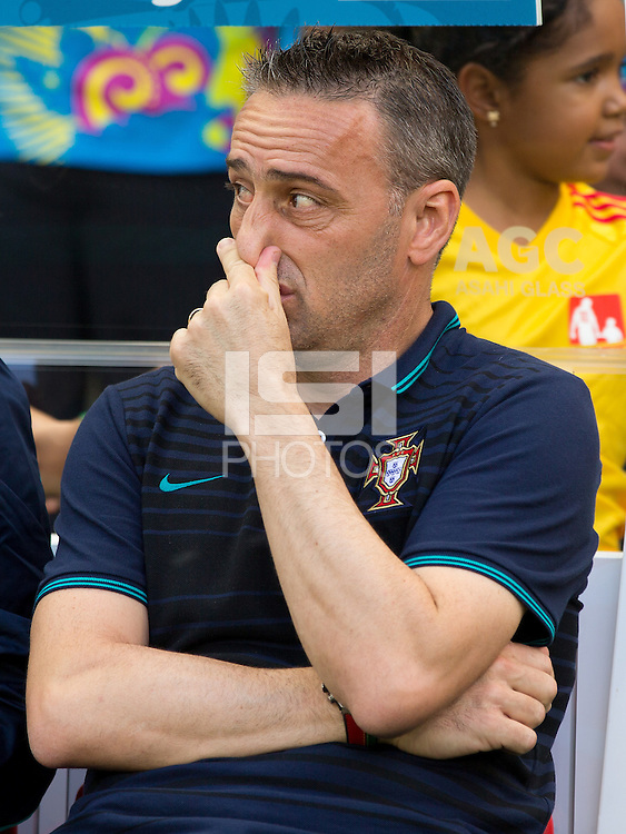 Portugal manager Paulo Bento looks dejected