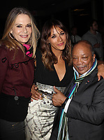 "11 May 2019 - Peggy Lipton, star of 'Mod Squad' and 'Twin Peaks,' ex-wife of Quincy Jones, dies at 72 from cancer. File Photo: 21 June 2012 - Hollywood, California - Peggy Lipton, Rashida Jones, Quincy Jones. - 2012 Los Angeles Film Festival - ""Celeste And Jesse Forever"" - After Party Held at FigOly Restaurant, Luxe City Center Hotel. Photo Credit: Kevan Brooks/AdMedia"