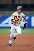Jake Palomaki (11) of the Boston College Eagles hustles towards third base against the North Carolina Tar Heels in Game Five of the 2017 ACC Baseball Championship at Louisville Slugger Field on May 25, 2017 in Louisville, Kentucky. The Tar Heels defeated the Eagles 10-0 in a game called after 7 innings by the Mercy Rule. (Brian Westerholt/Four Seam Images)