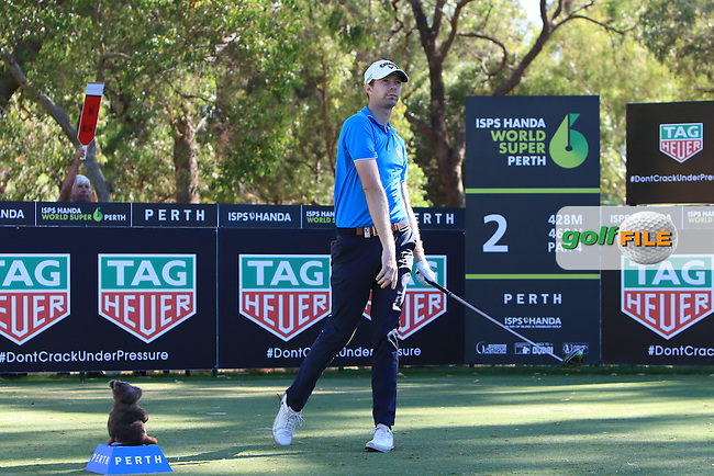 Ben Evans (ENG) on the 2nd tee during Round 2 of the ISPS Handa World Super 6 Perth on Friday 17th February 2017.<br /> Picture:  Thos Caffrey / Golffile<br /> <br /> All photo usage must carry mandatory copyright credit     (&copy; Golffile | Thos Caffrey)