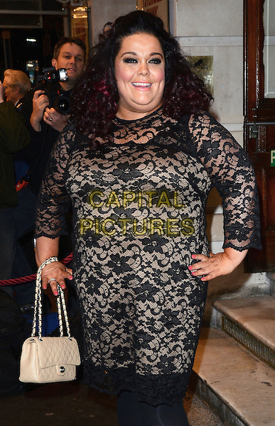 LONDON, ENGLAND - FEBRUARY 25: Lisa Riley attends the &quot;The Full Monty&quot; press night, Noel Coward Theatre, St Martin's Lane, on Tuesday February 25, 2014 in London, England, UK.<br /> CAP/MB/PP<br /> &copy;Michael Ball/PP/Capital Pictures