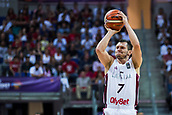 7th September 2017, Fenerbahce Arena, Istanbul, Turkey; FIBA Eurobasket Group D; Latvia versus Turkey; Guard Janis Blums #7 of Latvia shoots for three points during  the match