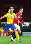 Louise Fors, Ingvild Stensland, QF, Sweden-Norway, Women's EURO 2009 in Finland, 09042009, Helsinki Football Stadium.