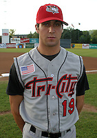 August 22, 2003:  Sam Fischer of the Tri-City ValleyCats during a game at Dwyer Stadium in Batavia, New York.  Photo by:  Mike Janes/Four Seam Images