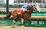 May 04, 2019 : #7 My Money and jockey Gabriel Saez win the 95th running of The Pat Day Mile Grade 3 $400,000 for owner Allied Racing and trainer Bret Calhoun at Churchill Downs on May 04, 2019.  Candice Chavez/ESW/CSM