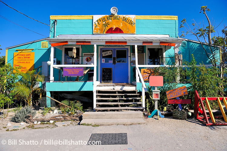 JT's Cafe & Gallery, Chokoloskee Island, Florida.