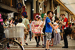 AUGUST 7, 2016 - Cosplayers walk in a parade during the World Cosplay Summit in Nagoya, Japan.  <br /> <br /> The week-long event attracts thousands of cosplayers from Japan and around the world. Cosplay, or costume play, involves participants dressing and acting as characters from TV, movies, comics, and video games. (Photo by Ben Weller/AFLO) (JAPAN) [UHU]