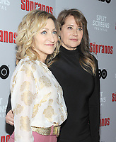 NEW YORK, NEW YORK - JANUARY 09: Edie Falco and Lorraine Bracco attends the 'The Sopranos' 20th Anniversary Panel Discussion at SVA Theater on January 09, 2019 in New York City. Credit: John Palmer/MediaPunch