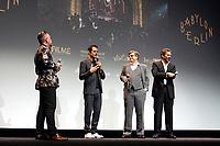 LOS ANGELES - OCT 6: Thomas Mikusz, Tom Tykwer, Henk Handloegten, Achim von Borries at the Babylon Berlin International Premiere held at The Theatre at Ace Hotel on October 6, 2017 in Los Angeles, CA