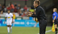 Portland, Oregon - Sunday September 11, 2016: Portland Thorns FC head coach Mark Parsons during a regular season National Women's Soccer League (NWSL) match at Providence Park.