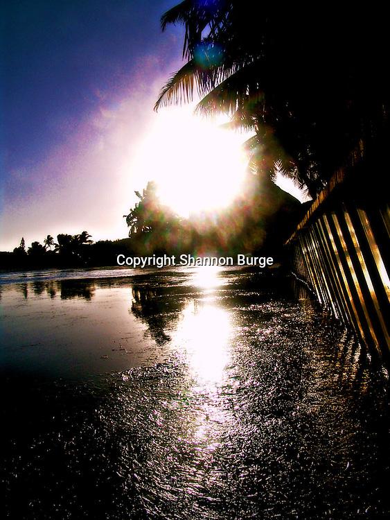 Belize, Ambergris Caye, sunset,