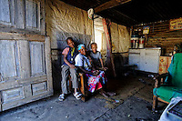 nside the living room, Khoi Camp, Nieu Bethesda, SA 2011