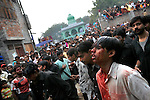 Thousands of Shi'a Muslims observed the holiday of Ashura in Varanasi, India on Jan. 20, 2008 in a grand display of mourning for Imam Hussein, the grandson of the prophet Muhammad.